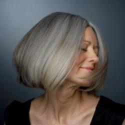 Окрашивание седых волос.