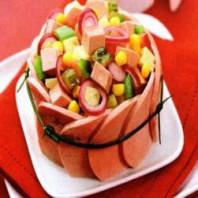 Мясной салат «Смешарик»